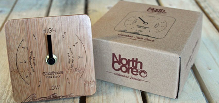 NorthCore Bamboo Tide Clock