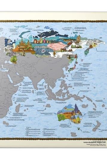 Bucketlist map scratch wereldkaart van awesome maps kopen bucketlist map scratch wereldkaart thecheapjerseys Images